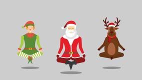 Santa,elves and reindeer