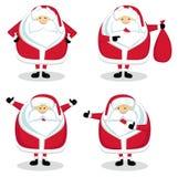 Santa em posições diferentes Imagem de Stock Royalty Free