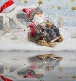 Santa em um trenó - a mágica do Natal Fotos de Stock