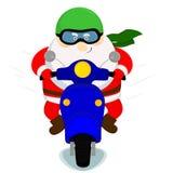 Santa em um 'trotinette' Imagem de Stock