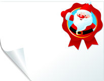Santa emblem page Royalty Free Stock Photo