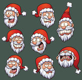 Santa Emoticons. Cartoon Santa Claus emoticons. Vector clip art illustration with simple gradients Royalty Free Stock Image