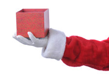 Santa With Empty Gift Box Stock Images