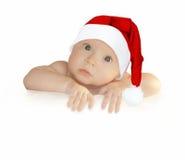 Santa-en blanco-oops Imagen de archivo