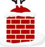 Santa en chimenea Imágenes de archivo libres de regalías