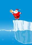 Santa en el iceberg Imágenes de archivo libres de regalías