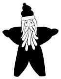 Santa en forme d'étoile Images libres de droits
