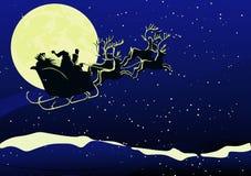 Santa en la Navidad Imagen de archivo libre de regalías