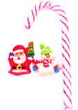 Santa encontra o boneco de neve para o negócio Imagens de Stock
