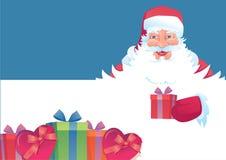 Santa engraçada Imagens de Stock Royalty Free