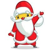 Santa engraçada Cartaz do fundo do cartão do Natal Imagens de Stock