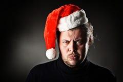 Santa enojado. Foto de archivo