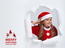 Santa entend vos souhaits de Noël Images libres de droits
