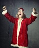 Santa es ganador fotografía de archivo libre de regalías
