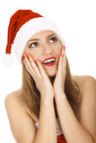 Santa espantada Foto de Stock