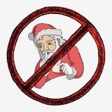 Santa está mantendo o segredo Fotos de Stock Royalty Free