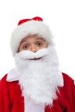 Santa está tão feliz Imagens de Stock Royalty Free