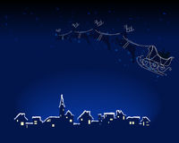 Santa está vindo à cidade Foto de Stock Royalty Free