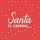 Santa está vindo Natal Imagem de Stock