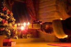 Santa est ici ! Images libres de droits