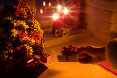 Santa est ici ! Photo libre de droits