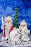 Santa et beaux jouets de Noël Images libres de droits