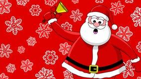 Santa et cloche drôles Images stock