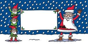 Santa et elfes Photo stock