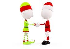 Santa et elfes pour Noël Photos libres de droits