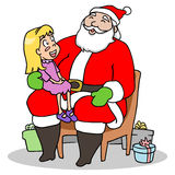 Santa et enfant Image stock