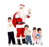 Santa et enfants Photos stock