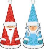 Santa et fille de neige Photo stock