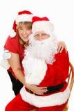 Santa et Mme Claus dans l'amour Images stock