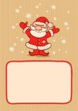 Santa et neige illustration libre de droits