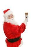 Santa et pinceau Photos libres de droits