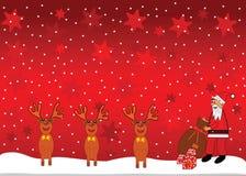 Santa et renne Illustration de Vecteur