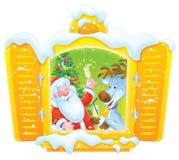 Santa et renne célèbrent Noël Photos libres de droits