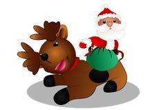 Santa et son renne Image libre de droits