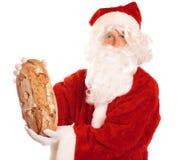 Santa etica - pane invece dei regali Fotografia Stock Libera da Diritti