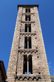 Santa Eulalia bell tower in Erill la Vall Royalty Free Stock Images