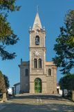 Santa Eulalia church in Pacos de Ferreira, north of Portugal. Mother church stock image