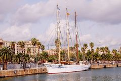 Santa Eulalia żeglowania statek, Barcelona Obraz Stock