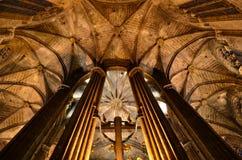 Santa Eulalia gothic katedra, Barcelona obraz stock