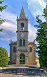 Santa Eulalia kyrka i Pacos de Ferreira arkivbild