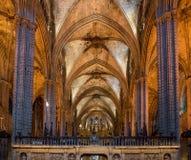 Santa Eulalia, Metropolitan Cathedral Basilica of Barcelona, Spain. Stock Photos