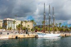 Santa Eulalia schooner in Barcelona Stock Image
