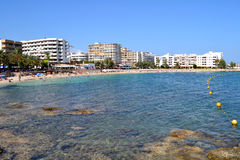 Santa Eularia des Riu Beach Ibiza, Spain Royalty Free Stock Images