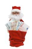 Santa with Euro Stock Photography