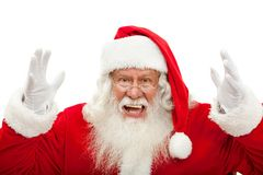 Santa excited Royalty Free Stock Photo