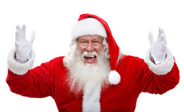 Santa Excited Photos libres de droits